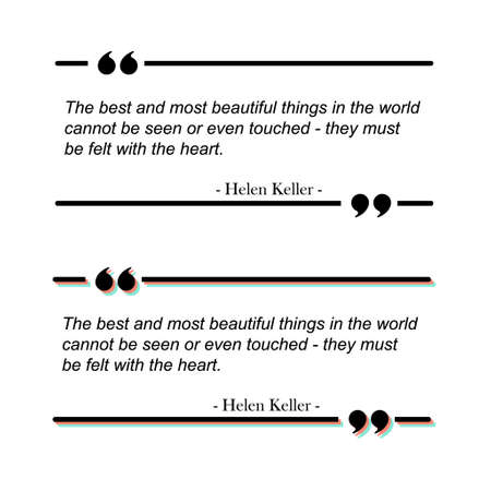 Quote text box frame. Quotation comment speech message texting template. Motivation memo. Vettoriali