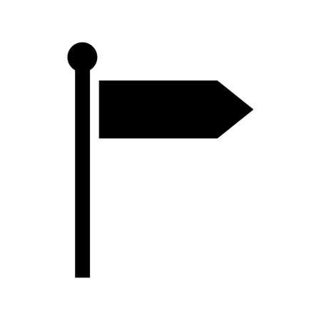 Signpost street vector illustration, road arrow symbol isolated on white background, web pointer. Vettoriali