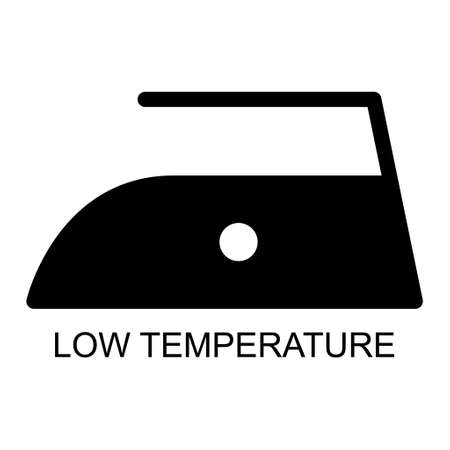Iron black flat icon isolated on white background. Low temperature level symbol. Machine vector illustration.