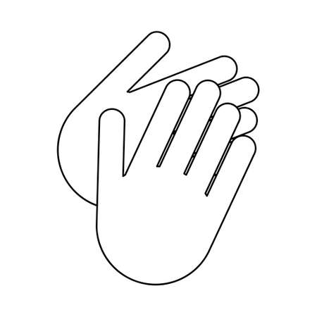 Clean your dirty hand, wash hygiene vector illustration icon, prevention flat symbol isolated on white background.