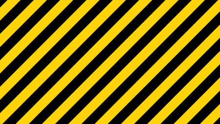 Black and yellow diagonal line striped. Blank vector illustration warning background. Hazard caution sign tape. Space for attention text. Ilustrace