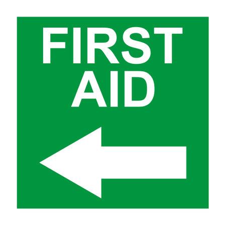 First aid sign, health cross medical symbol, medicine emergency illustration icon, safety design.