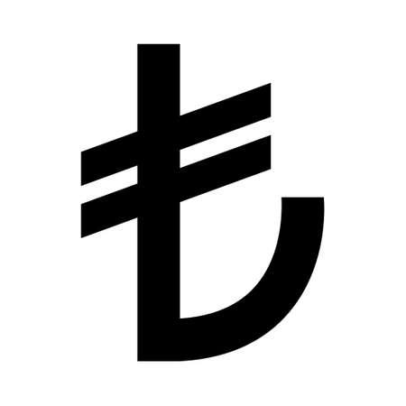 Turkish lira money icon, tl financial business sign, cash economy symbol isolated on background, vector illustration.