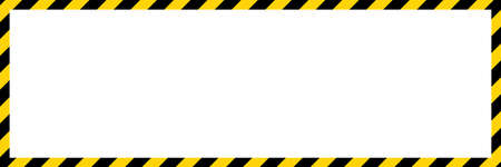 Black and yellow diagonal line striped. Blank vector illustration warning background. Hazard caution sign tape. Space for attention text. 矢量图像
