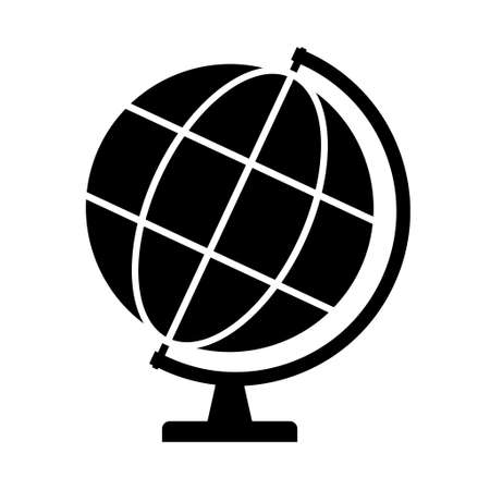 Globe map icon, Earth globe symbol, travel to world, plated for web, logo, website vector illustration.