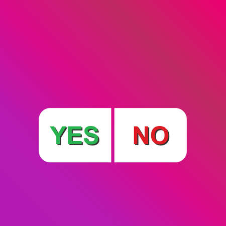 Blank question, choice button yes or no. Modern design concept for social concept