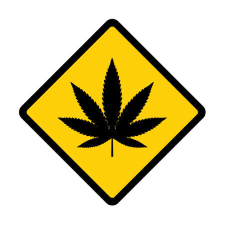 Mariuhana leaf symbol, marijuana or hemp icon, cannabis medical sign, weed drug vector illustration. Illustration