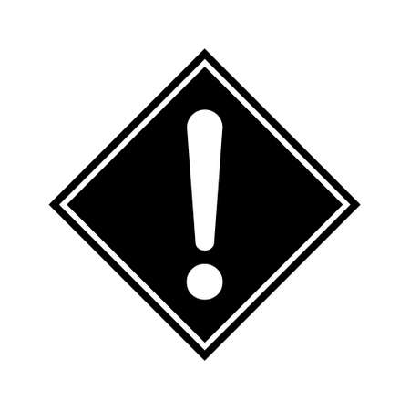 Hazard warning, warn symbol vector icon flat sign symbol with exclamation mark isolated on white background.