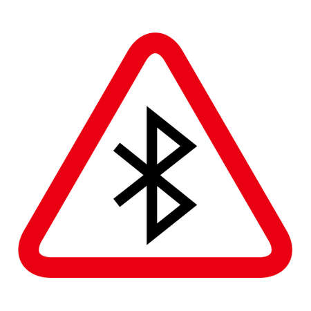 Bluetooth technology icon, network connection web symbol, data sharing for mobile, computer, laptop vector illustration.