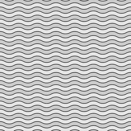 Seamless pattern wavy line vector illustration, horizontal texture wave simple background. Modern decorative element.