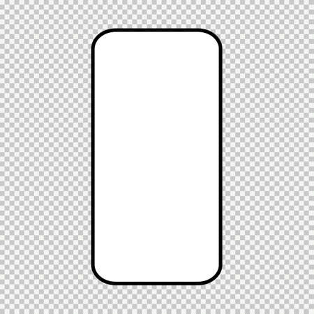 Smart mobile phone mock up, Smartphone technology template, modern blank telephnone, realistic vector illustration.