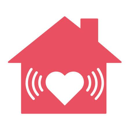 Stay home icon, house symbol, quarantine  virus vector illustration isolated on white background. 向量圖像
