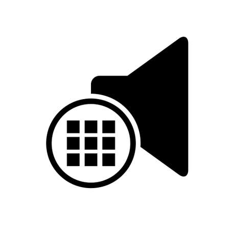 Music sound icon, audio volume symbol. Vector illustration graphic for app, web and media. Illustration