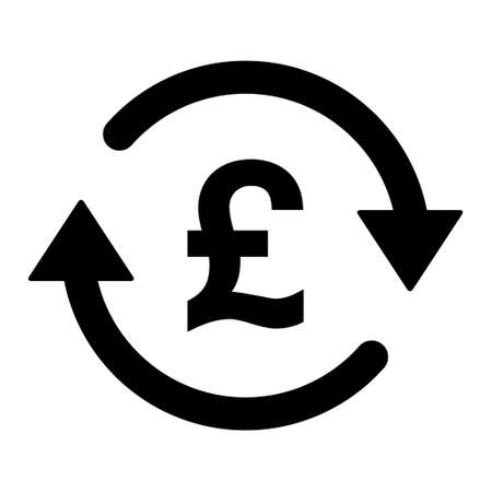 Pound money icon, gbp graphic pay business sign, market economy vector illustration. 向量圖像
