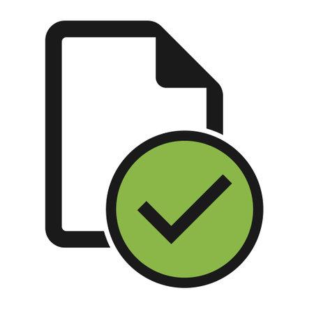 Do's file flat icon isolated on white background. Document symbol vector illustration.