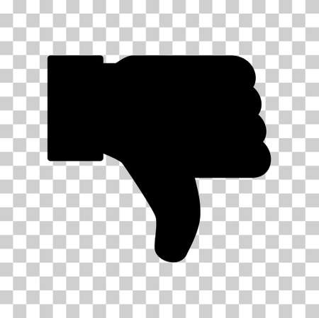 Thumb down icon, like finger vector illustration sign, business social web button.