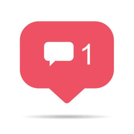 Follower notification symbol for application  . Web app button for social media. Vector illustration icon. 向量圖像