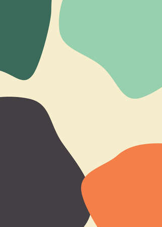 Abstract backgrounds in minimal trendy style templates for social media, free space card, brochure, postcard. 向量圖像
