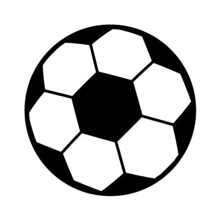 Soccer, football ball symbol, single goal isolated design vector illustration, web game object.