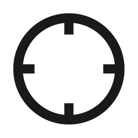 Target icon without symbol for website etc. Web flat button, vector illustration.