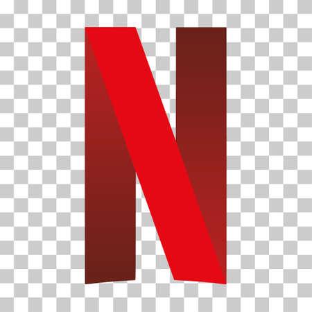 Humpolec, Czech Republic - March 23, 2021: Netflix - company logo, button for social media, phone icon symbol. Editorial web.