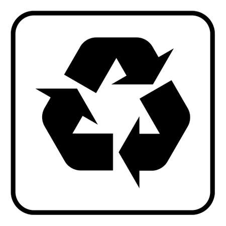 Recycle environment icon, Eco nature waste isolated on white background, garbage ecology system.