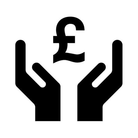 Hope icon, human hand with pound symbol, help and protection graphic design, support vector illustration. 向量圖像