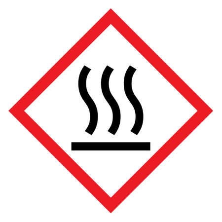 Hot surface icon, safety graphic information symbol, risk notice attention mark, caution vector design. 向量圖像