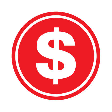Dollar money symbol, business cash icon, save currency bank sign, vector illustration isolated background. 向量圖像