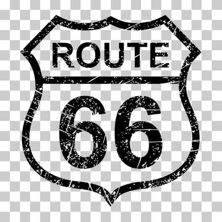 Route 66 classic icon, travel usa history highway, america road trip vector background. 向量圖像