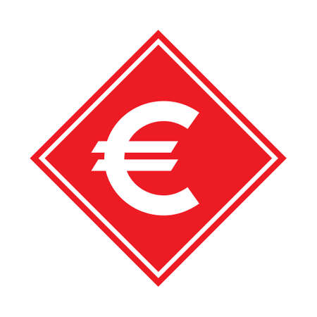 Euro money symbol, business cash icon, save currency bank sign, vector illustration isolated background.