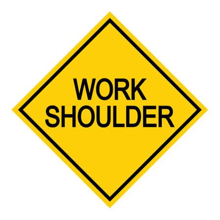 Work shoulder Road danger car icon, traffic street caution sign, roadsign vector illustration, warning vehicle. 向量圖像