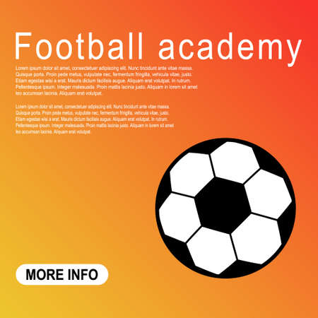 Template of Soccer, football ball symbol, single goal isolated design vector illustration, web game object