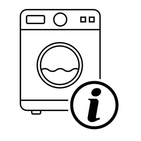 Washing machine equipment, Electric washer laundry icon, wash symbol clothes, vector illustration background.