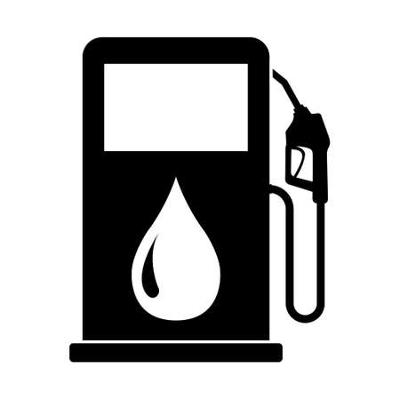 Gas station icon, nozzle isolated  , pump gasoline design, oil power energy symbol.