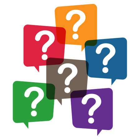 Question mark, frequently asked questions vector icon. Information speech bubble symbol, help message