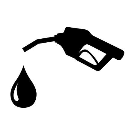 Gas station icon, nozzle isolated logo vector, pump gasoline design, oil power energy symbol.