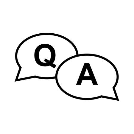 FAQ, frequently asked questions vector icon. Information speech bubble symbol, help message.