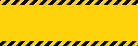 Black and yellow diagonal line striped. Blank vector illustration warning background. Hazard caution sign tape. Space for attention text. Illusztráció