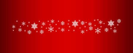 Snow flake decoration, christmas design celebration ornament, snowwall background, frost vector illustration. Illusztráció