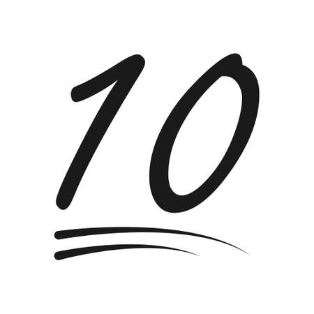 Congratulation number lettering, 10 celebrate follower icon, web online post vector illustration .