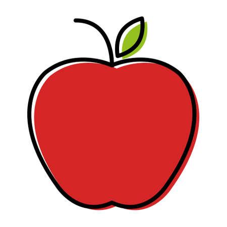 Apple icon, healthy raw symbol, foot sweet fruit, vector illustration design, eco diet .