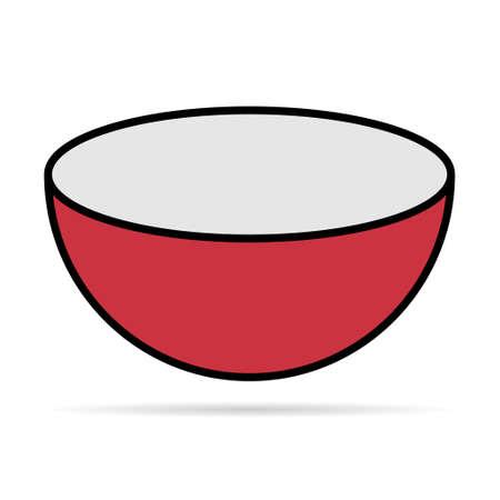 Bowl icon, food sign isolated on background, vector illustration, meal dinner symbol design . Illusztráció