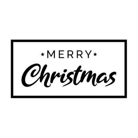 Merry christmas background, Xmas poster template, winter decoration vector illustration, greeting card .