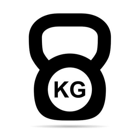 Kettlebell icon, fitness sport symbol, iron equipment vector illustration, workout heavy training web mark .