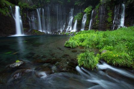 白糸の滝 写真素材