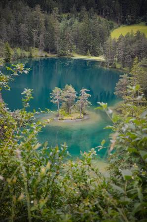 unique lake Fernsteinsee wth transparent water