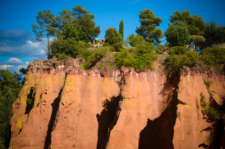 the deposits: Roussillon is famous for the rich deposits of ochre pigments found in the clay near the village