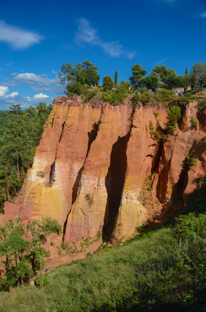 ochre: Roussillon is famous for the rich deposits of ochre pigments found in the clay near the village