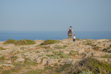 View from a cliff near Sagres Fortress in Portugal